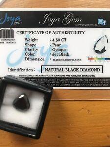 Certified-High-Grade-Loose-Black-Diamond-4-5ct-Pear-Shape