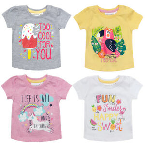 f8b353068 Image is loading Babytown-Girls-Cotton-Short-Sleeve-Printed-Novelty-T-