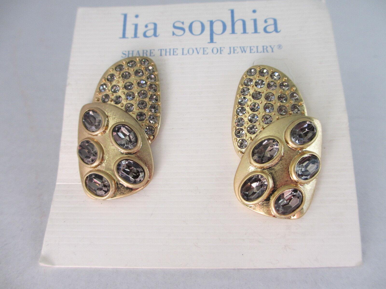 Lia Sophia Topaz Crystal Rhinestone Pieced Earrings