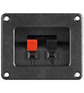 Lautsprecher-terminal,2pol,80x65mm Mit Klemmleiste ,2er Set rot/schwarz