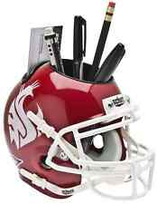 WASHINGTON STATE COUGARS NCAA Schutt Mini Football Helmet DESK CADDY