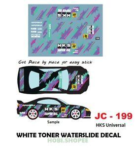 Jc 9199 White Toner Waterslide Decals H K S For Custom 1 64 Hot Wheels Ebay