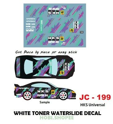 JC-9130 Toner Branco decalques Waterslide /> EF9 idemitsu /> Para Custom 1:64 Hot Wheels
