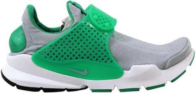 best website f73e4 42bb9 Nike Sock Dart KJCRD Mens 819686-004 Grey Stadium Green Running Shoes Size 8
