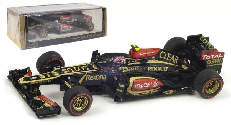 SPARK S3072 Lotus E21  8 2nd US GP 2013-Romain Grosjean échelle 1 43