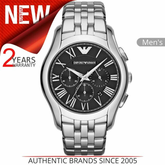 Emporio Armani Clásico Hombre ' Reloj AR1786 │ Cronógrafo Negro Dial │ Acero