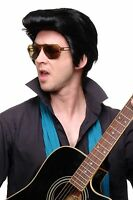 Quality Wig Men Wig Elvis Rockabilly Cool Black 50ies F331a-1b
