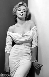 Detalles De Vestido Blanco De Marilyn Monroe Retrato De Lona Pared Arte Impresion Movie Poster Modelo Ico Ver Titulo Original