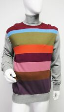 New 1,166 Dolce & Gabbana Mens Multi Striped Turtleneck Cashmere Sweater 50 US40