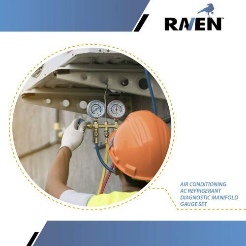 Raven AC Manifold Gauge Set R12 R22 R134A HVAC Diagnostic Tool Kit Refrigeration