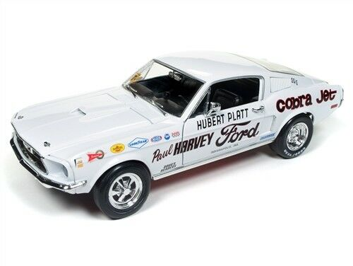 Auto World 1  18 AW247 FORD MUSTANG 1968 S S Cobra Jet Hubert Platt Paul Harvey  40% de réduction