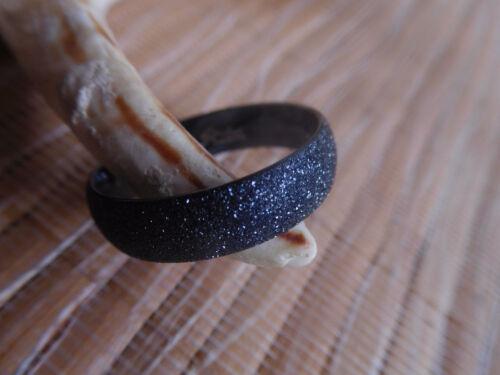 Schicker Edelstahl Ring Band Schwarz diamantiert  gr 22mmØ und 23mmØ