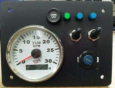 Narrowboat Boat Fishingboat Instrument panel 12v New any engine.