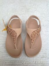 New FitFlop Suede Sandal Suisei/Nude US Size 5