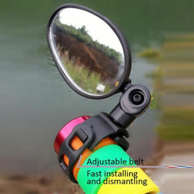 360° Rotate Bicycle Cycling Bike  Safety Rearview Mirror Rubber PC