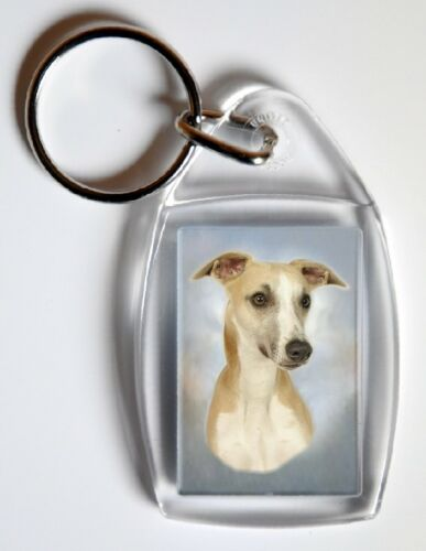 Auto combined postage Whippet Key Ring By Starprint
