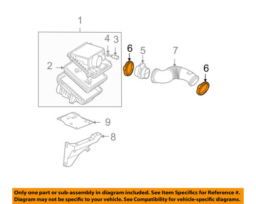 GM OEM Air Cleaner Intake-Clamp 15286316