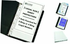 Top Loading Heavyweight Poly Sheet Protectors Clear Legal Size 14 X 85