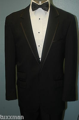Boys 5 Black Tux Coat  ModernThin Lapel This years style Framed Lapel