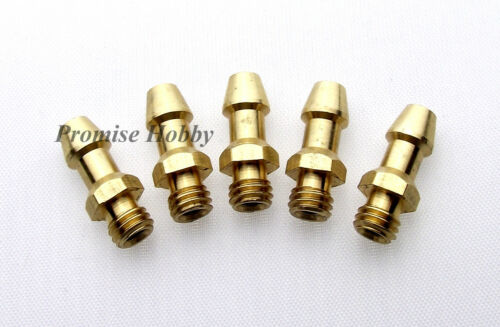 M5 threaded brass water nipples for rc boat 5pcs