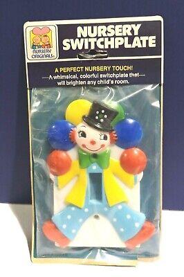 New 1 Gang Light Switch Cover New Nursery Switch Plate Clown Juggler 234 876 Ebay
