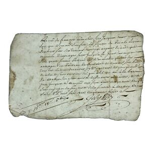 Authentic-1700-s-European-Document-Legal-Work-Paper-Handwritten-Old-Manuscript-L