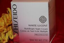 SHISEIDO WHITE LUCENT MULTIBRIGHT NIGHT CREAM FULL SIZE 1.7 OZ IN BOX AUTHENTIC