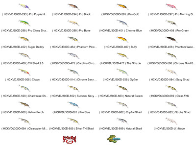 Strike King Jerkbait DEEP HCKVDJ300D-682 Crystal Shad KVD Slash Fishing Lure