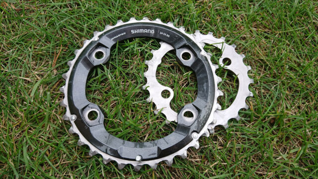 Black//Silver Shimano SLX M7000 MTB Bicycle Chainrings 34//24T For 2x11 Speed