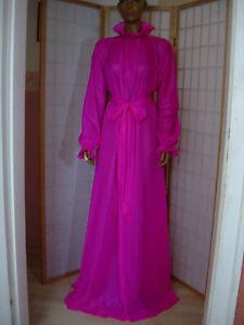 ADULT-Nylon-Kleid-Baby-Dienstmaedchen-kleid-Maid-Transperant-Stof-pink
