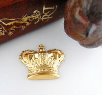 BRASS Royal CROWN Stamping ~ Jewelry Finding ~ Brass Stamping (C-1101) *