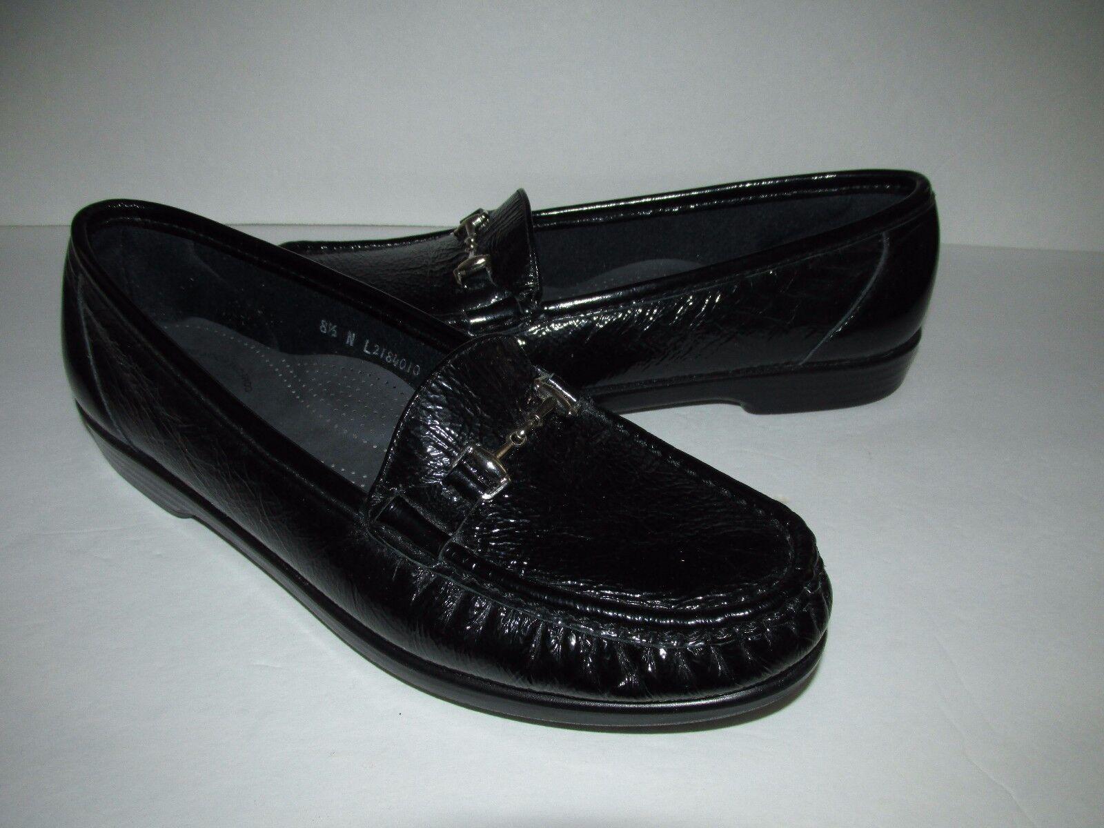 Servicio Aéreo Especial Metro para mujer Talla 8.5N Charol Charol Charol Negro Zapatos Sin Cordones comodidad Tripad  salida de fábrica