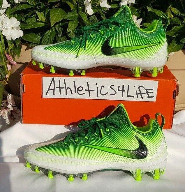 NIKE VAPOR UNTOUCHABLE PRO FOOTBALL CLEATS SIZE 10 GREEN WHITE 833385-301