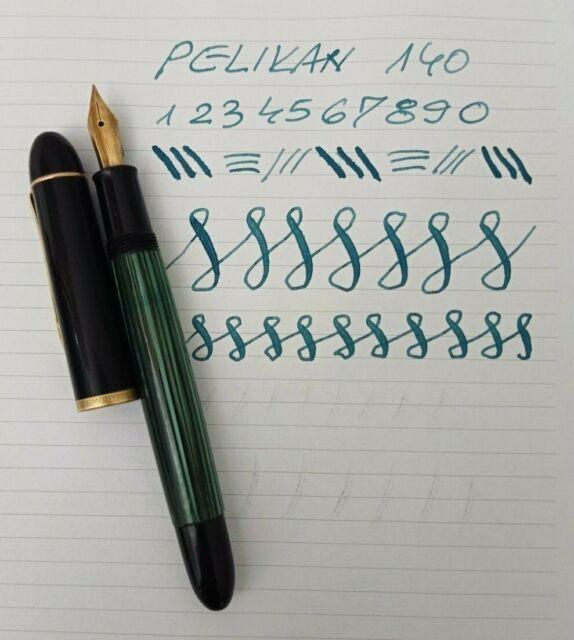 Pelikan 140 Fountain Pen 14k f Flex Nib Vintage in Leather Pouch