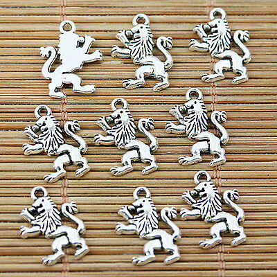 28pcs tibetan silver tone cartoon lion design charms EF1558
