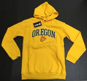 brand new 840c6 479a1 Details about NCAA Oregon Ducks Sweatshirt Official Genuine Stuff Youth  size with Pockets New