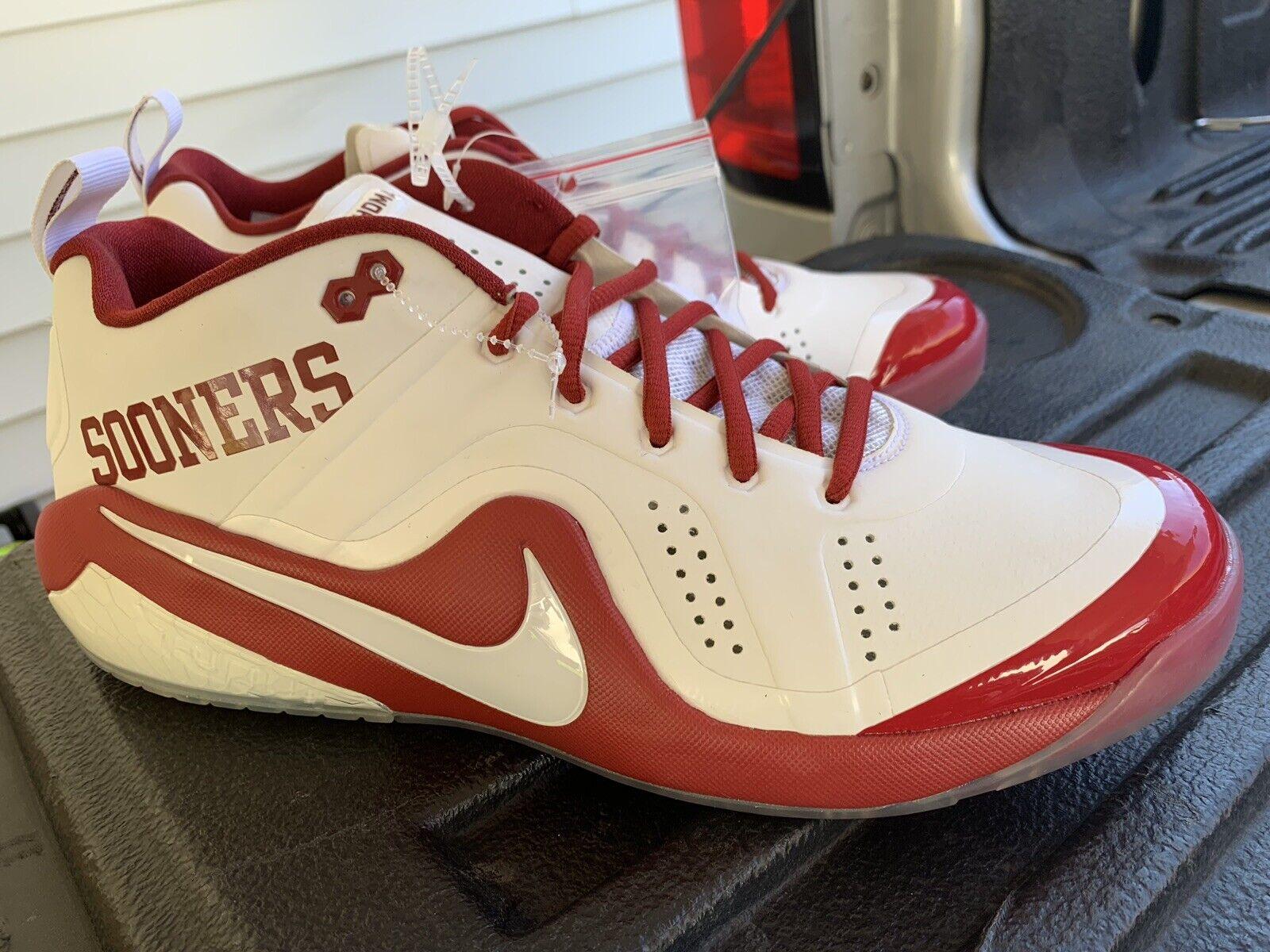 RARE Nike Zoom Trout 4 Turf TF Oklahoma Sooners Trainer MEN'S  shoes SZ 11