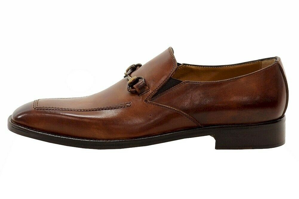 Kenneth Cole Men's Noble Title Tan Leather Loafers Shoes