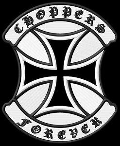 CHOPPERS-Forever-Cruz-de-Hierro-Parche-17-5x14-5cm-habito-MC