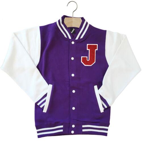 Varsity Baseball Giacca Unisex Personalizzato Con Genuino Us COLLEGE Lettera J