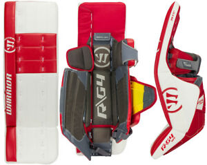 3675a879720 Image is loading Warrior-Ritual-G4-Classic-Goalie-Leg-Pads-Sr