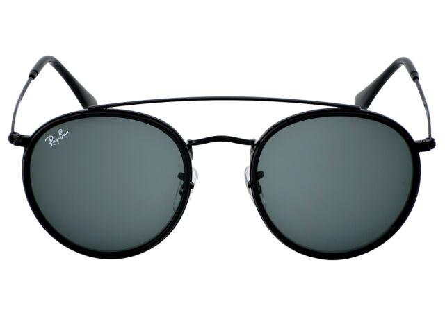 ebc66819ac6 Sunglasses Ray-Ban Rb3647n Round Double Bridge 002 r5 51 Black Grey ...