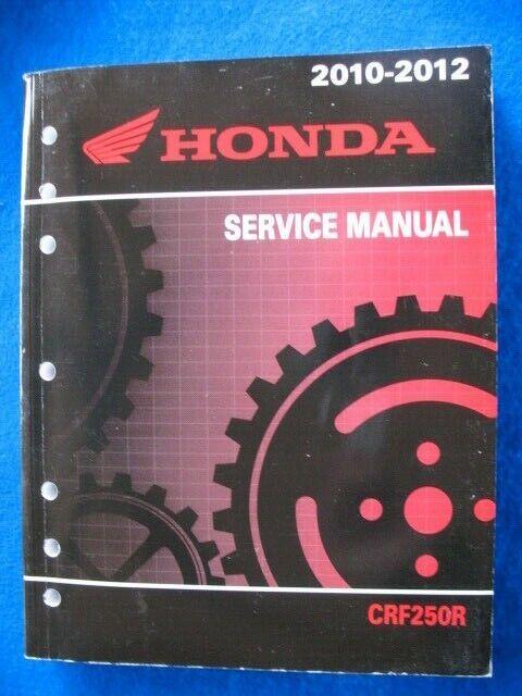 Honda 2010 2011 2012 Crf250r Original Factory Service Shop
