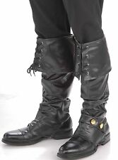 Pirate Boots Deluxe Buccaneer Studded Boot Covers Shoes Carribean - Fast Ship -