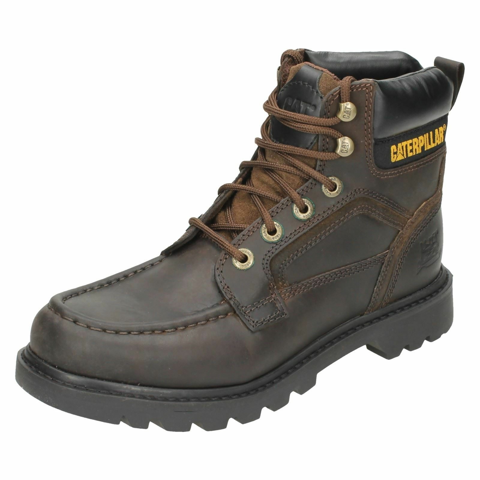 Men's TRANSPOSE boots Brown leather lace up boots  by CATERPILLAR Price 59.99