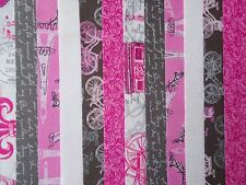 24 JELLY ROLL STRIPS 100% COTTON PATCHWORK FABRIC PARIS 22 INCH LONG
