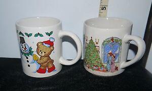 Coffee Christmas Morning.Details About Lot Of 2 Christmas Ceramic Coffee Mugs Teddy Bear Snowman Christmas Morning
