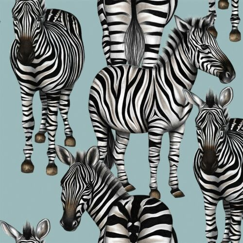 4 Lunch Paper Napkins for Decoupage Party Table Vintage Zebra