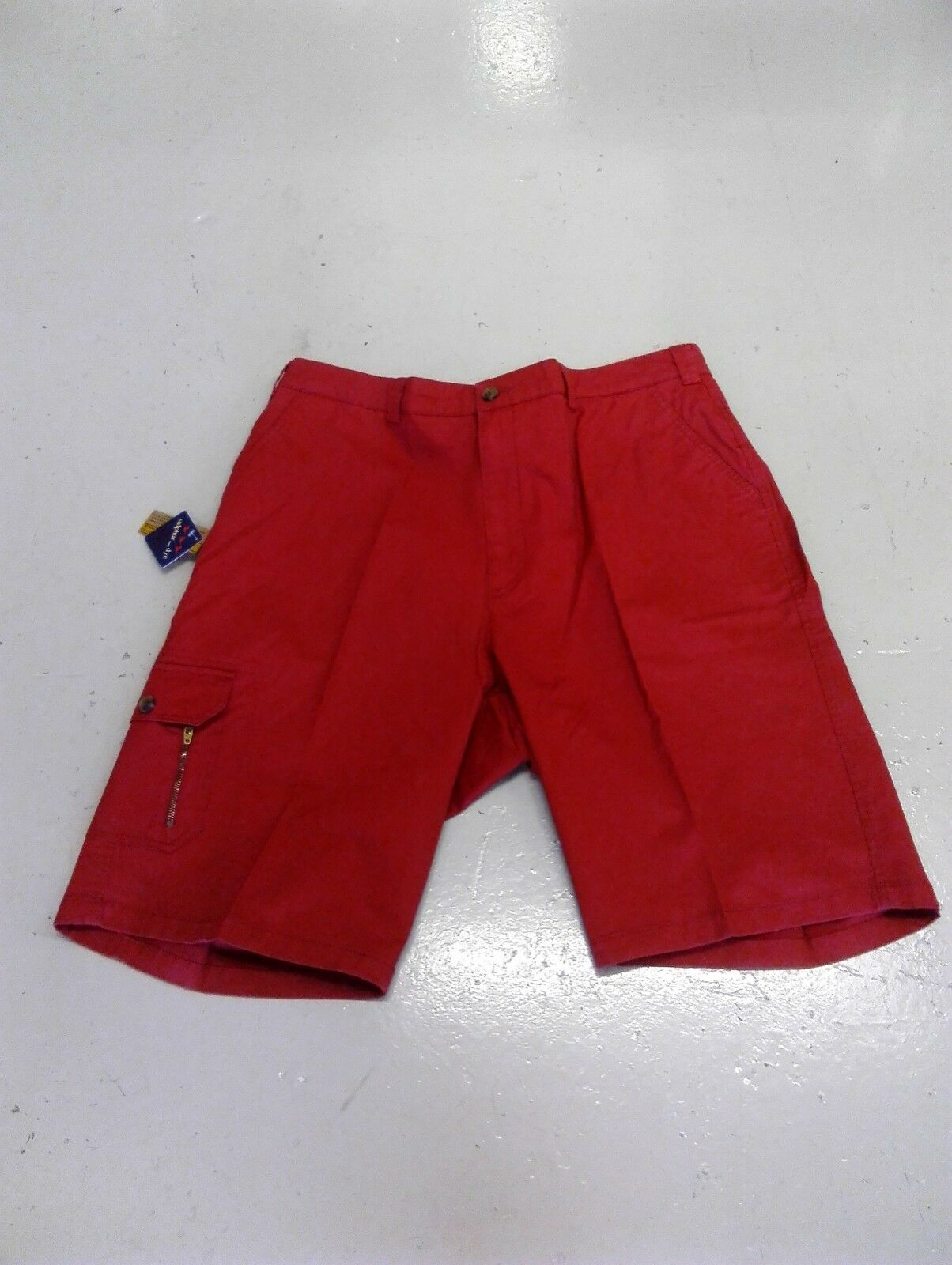 OAKMAN  SULPHUR DYE  SMART CASUAL RED CARGO SHORTS SIZE 44 48 50  WAIST