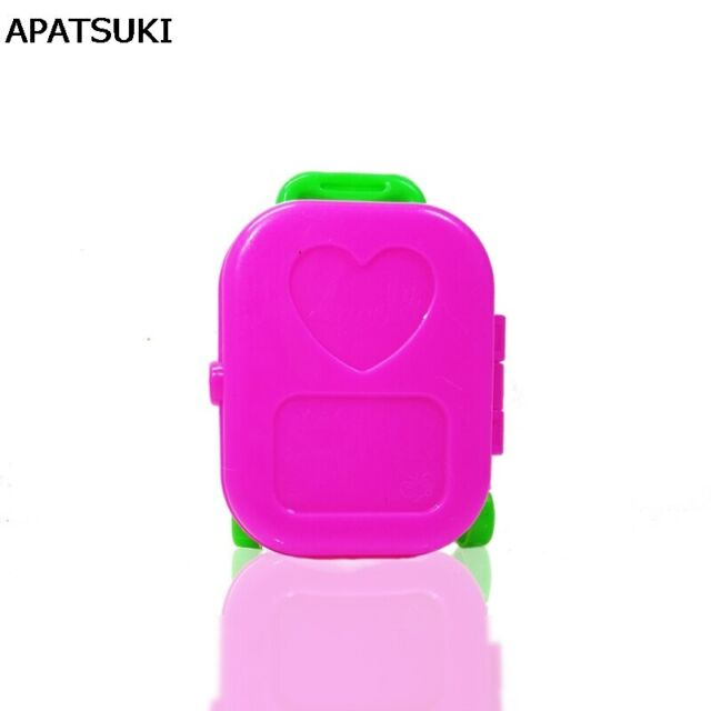 Pink Plastic Suitcase Luggage Box Trunk for Barbie Doll Travel Accessories JG